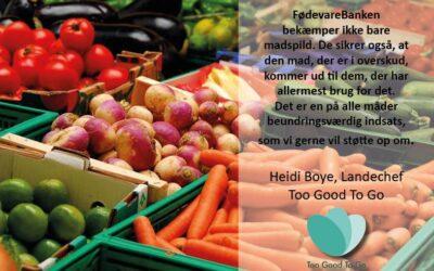 Støt FødevareBanken i 2020 når du køber To Good To Go